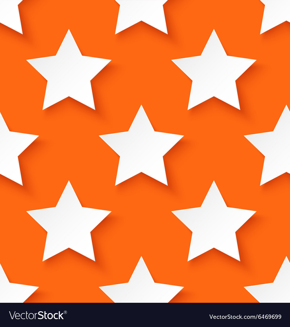 White paper seamless star pattern background vector image