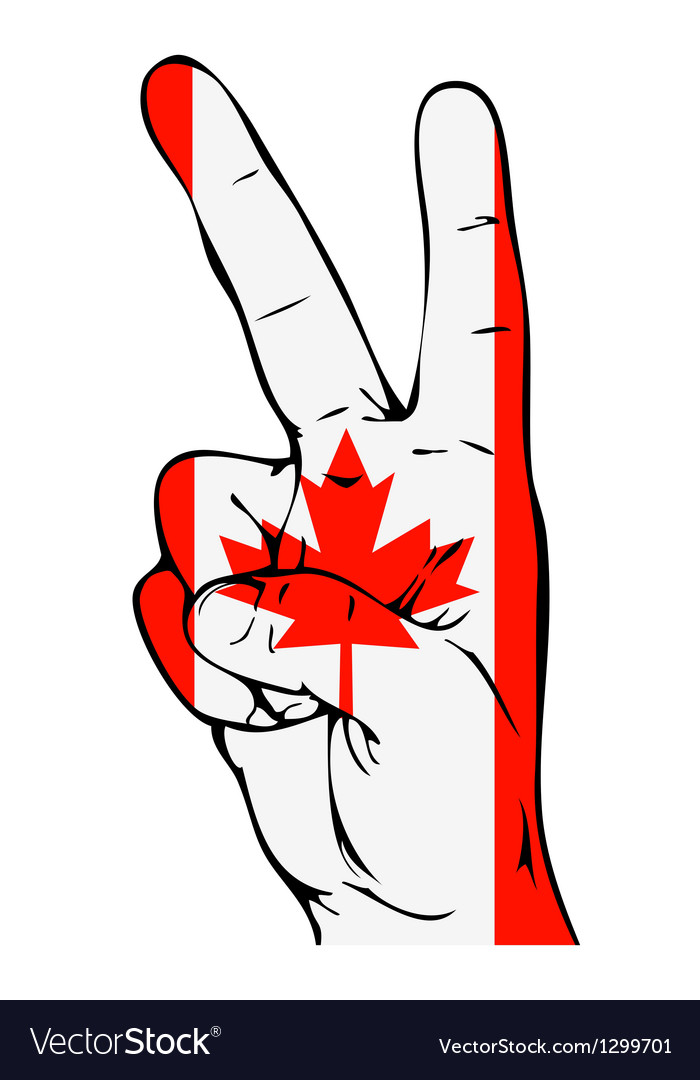 Peace Sign of the Canadian flag vector image