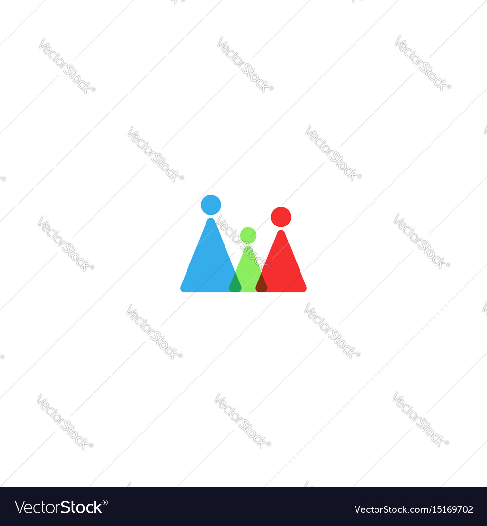 Family logo mockup silhouette mother father and vector image