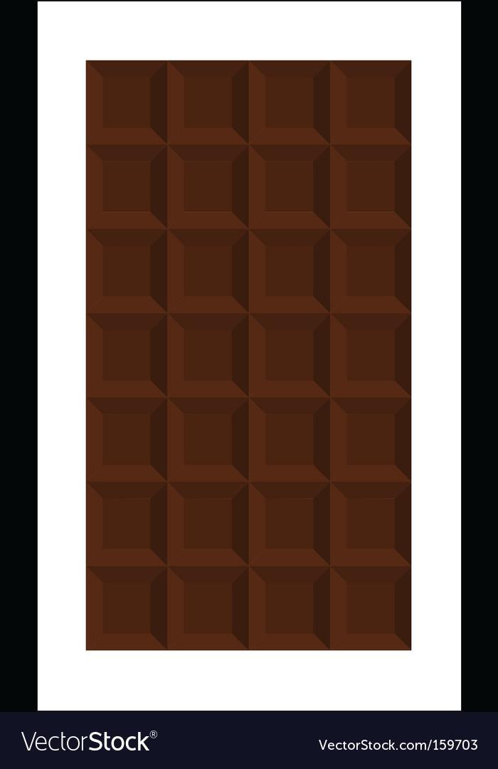 Bar of chocolate vector image