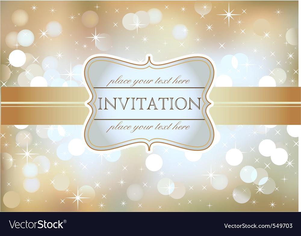 Golden invitation royalty free vector image vectorstock golden invitation vector image stopboris Gallery