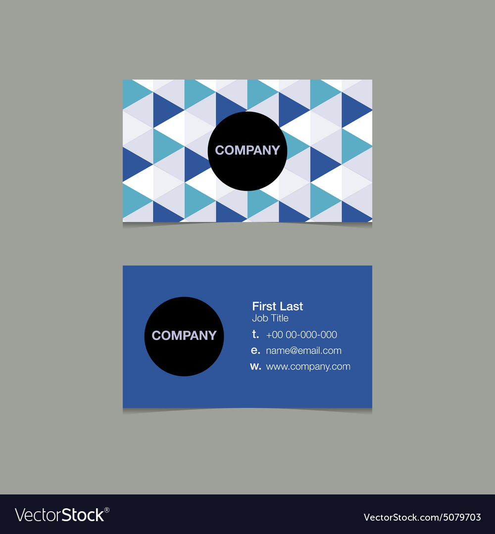 Simple name card template triangle style Vector Image