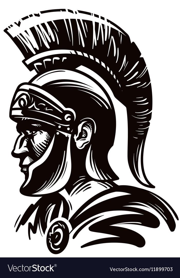 Spartan warrior gladiator or roman soldier vector image