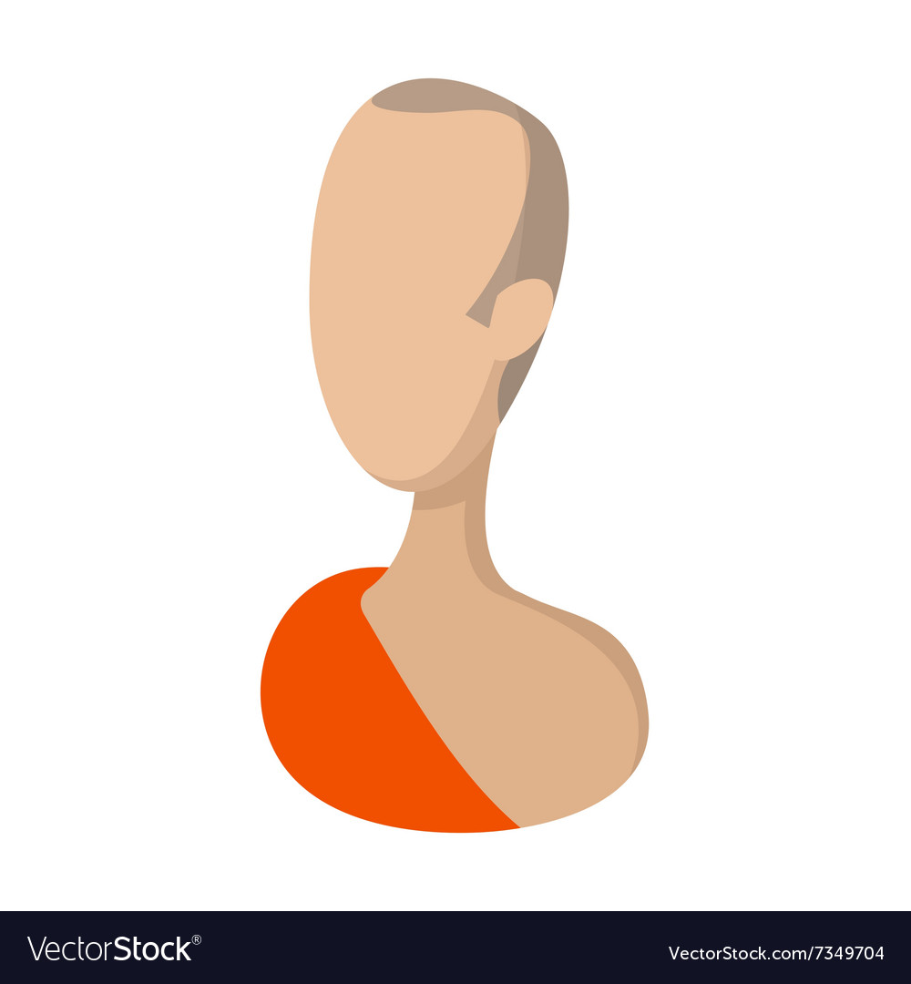 Buddhist monk cartoon icon vector image