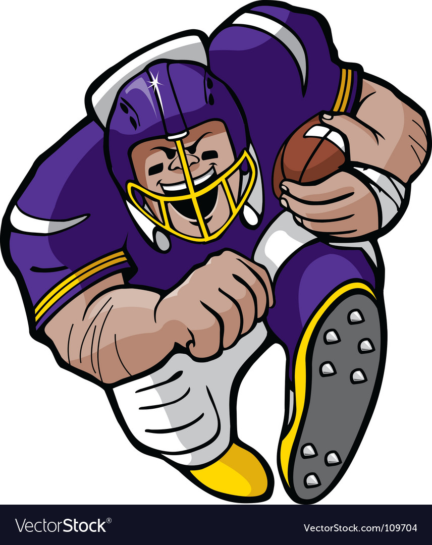 Cartoon football running vector image