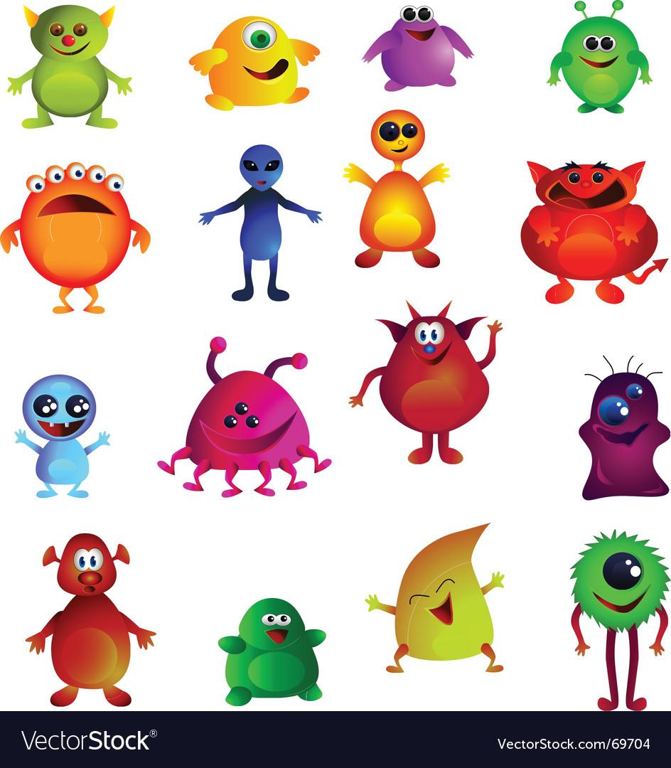 Cute monsters vector image