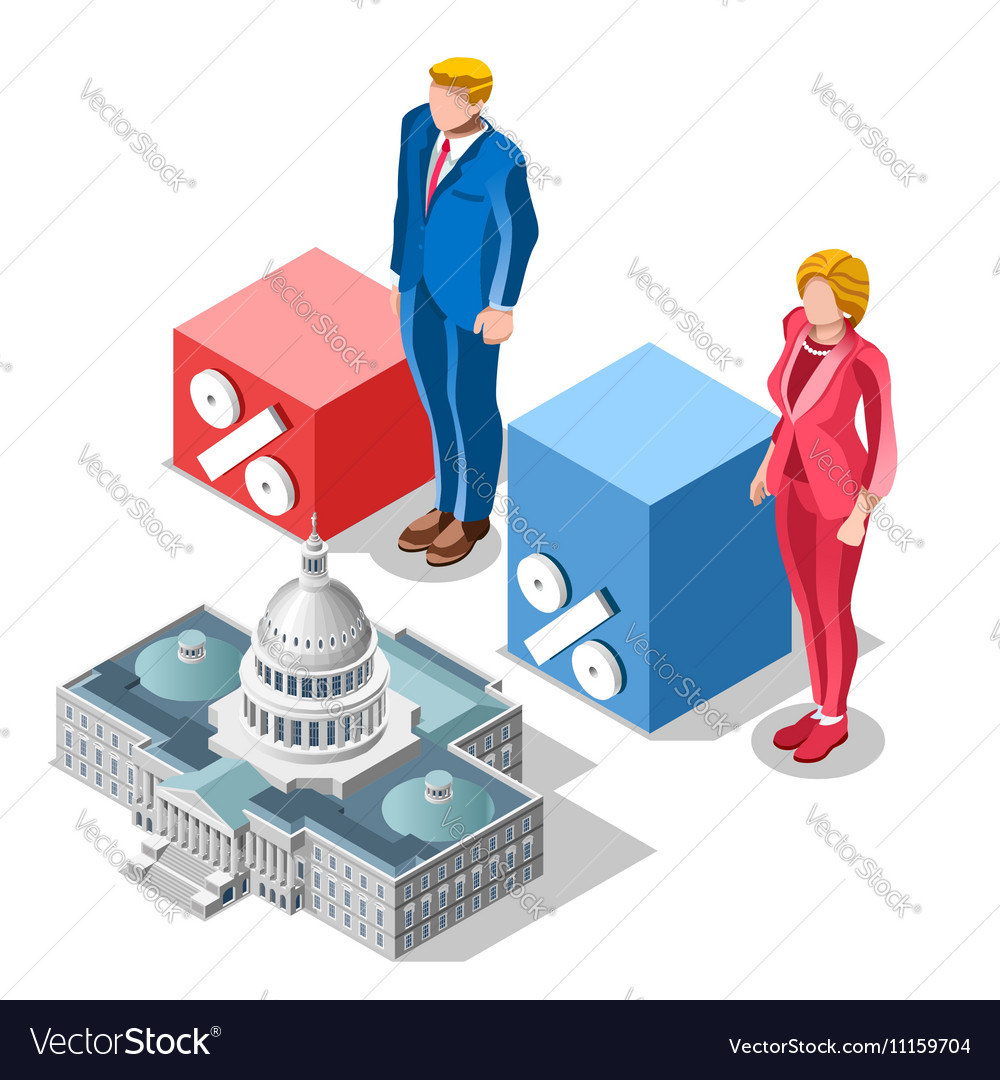 Election Infographic Pools Congress Isometric vector image