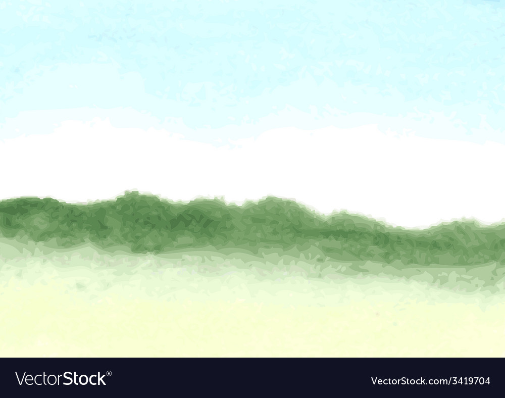 Hand-drawn watercolor background vector image