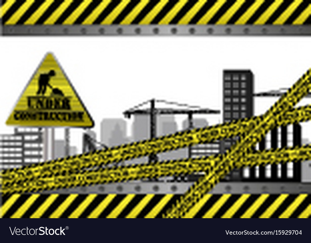 Under construction site vector image