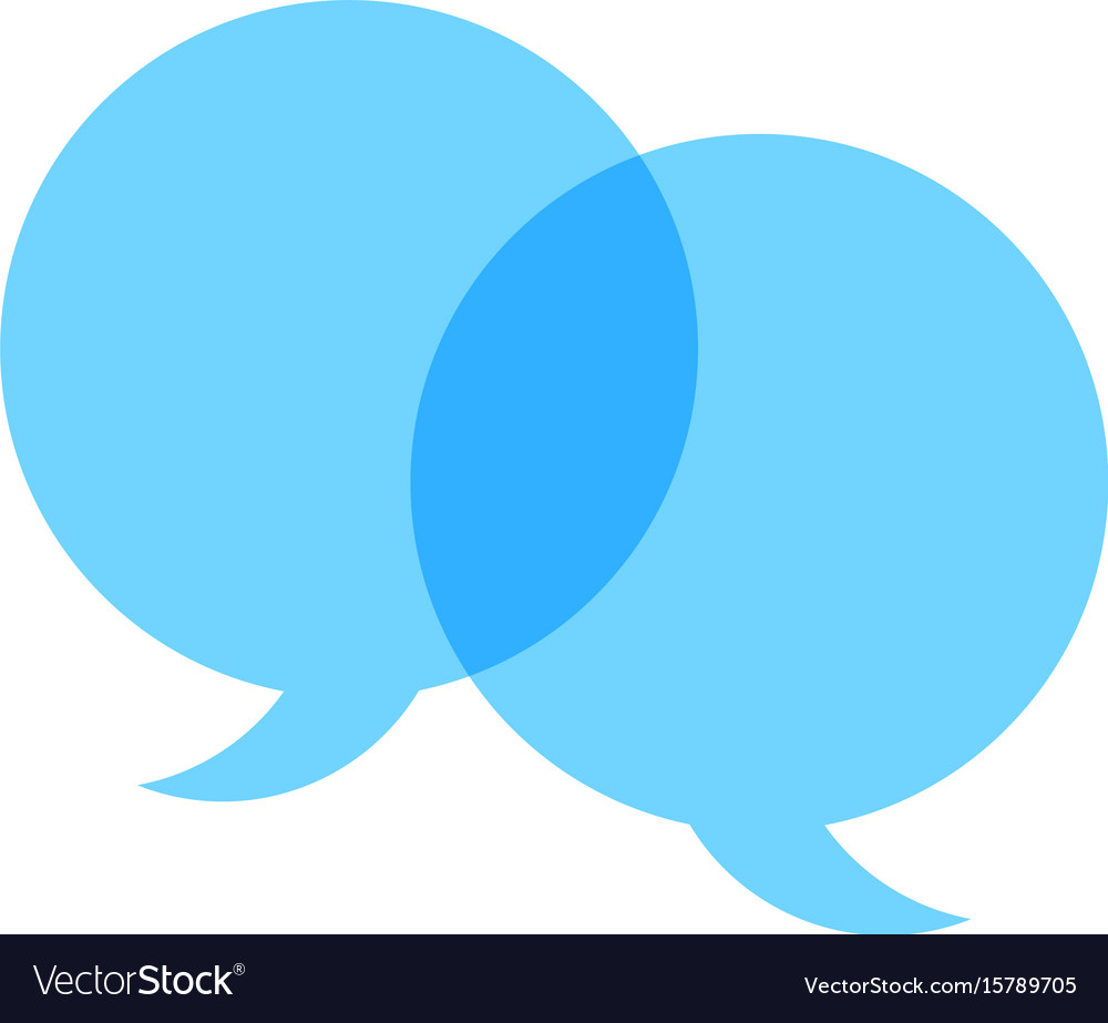 Speech balloon icon vector image