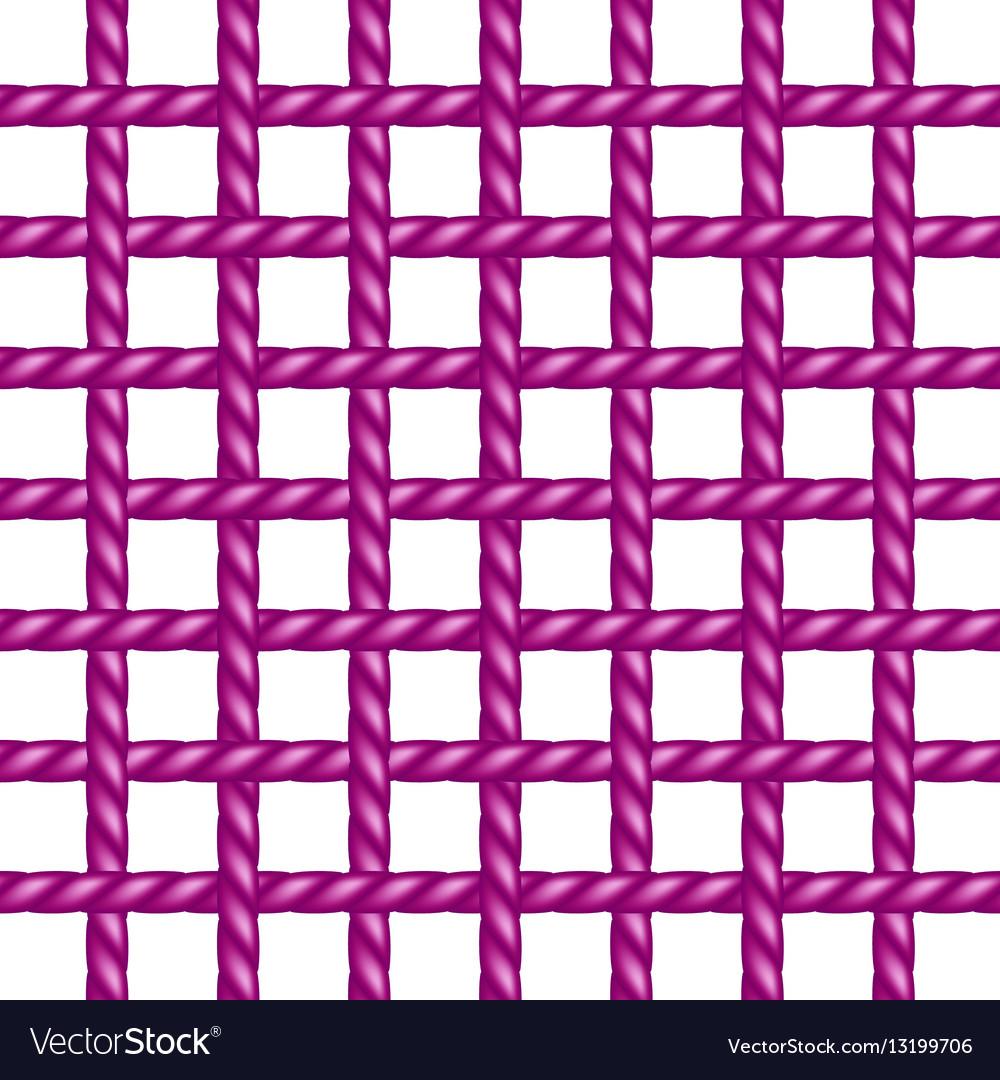 Net of rope in purple design vector image