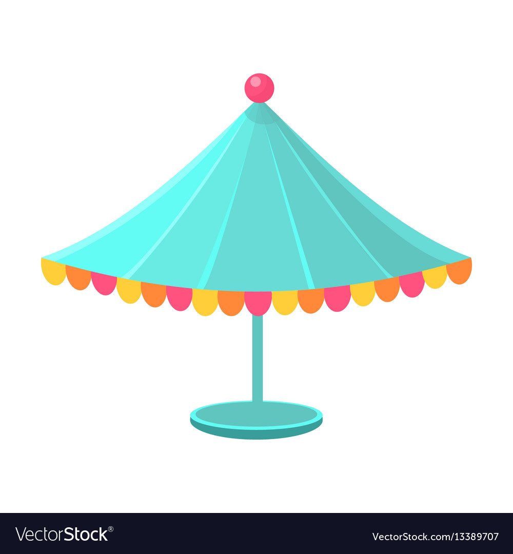 Blue decorated circus canopy object from baby vector image  sc 1 st  VectorStock & Blue decorated circus canopy object from baby Vector Image