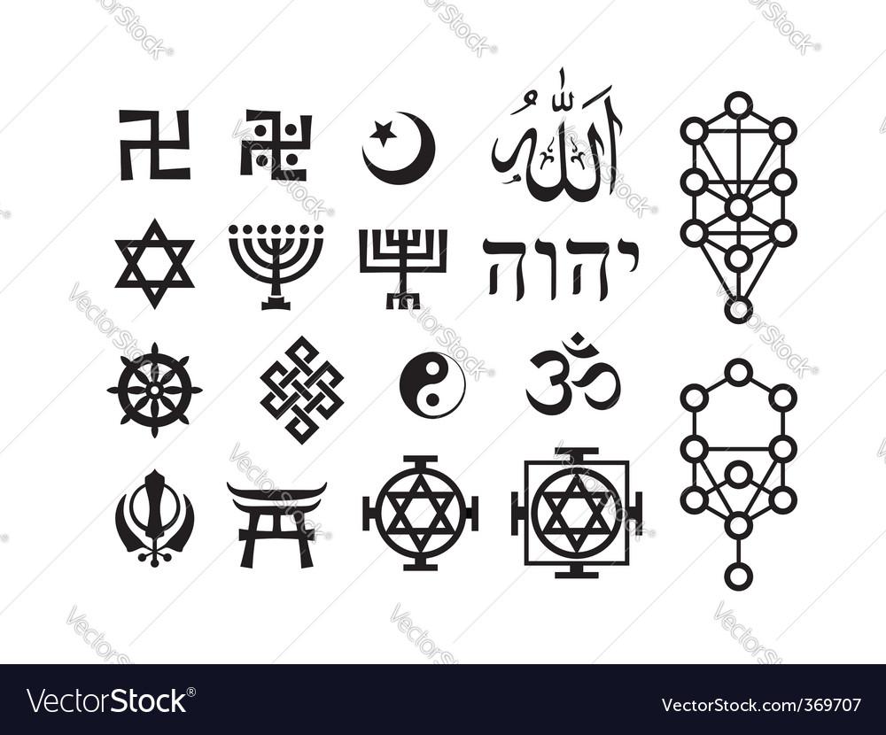 Oriental religious symbols royalty free vector image oriental religious symbols vector image biocorpaavc