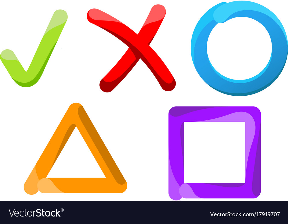Symbols of choice on a white background vector image