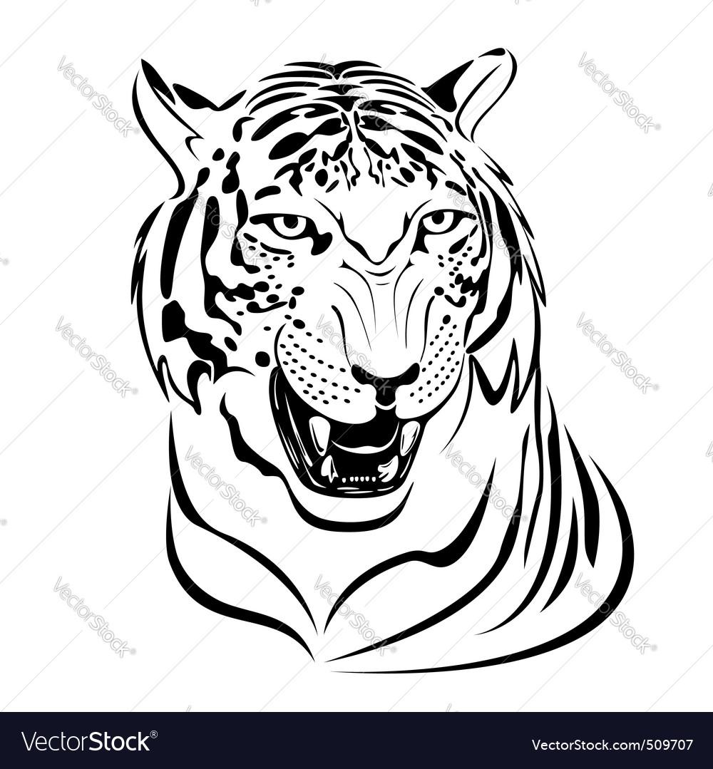tiger print royalty free vector image vectorstock