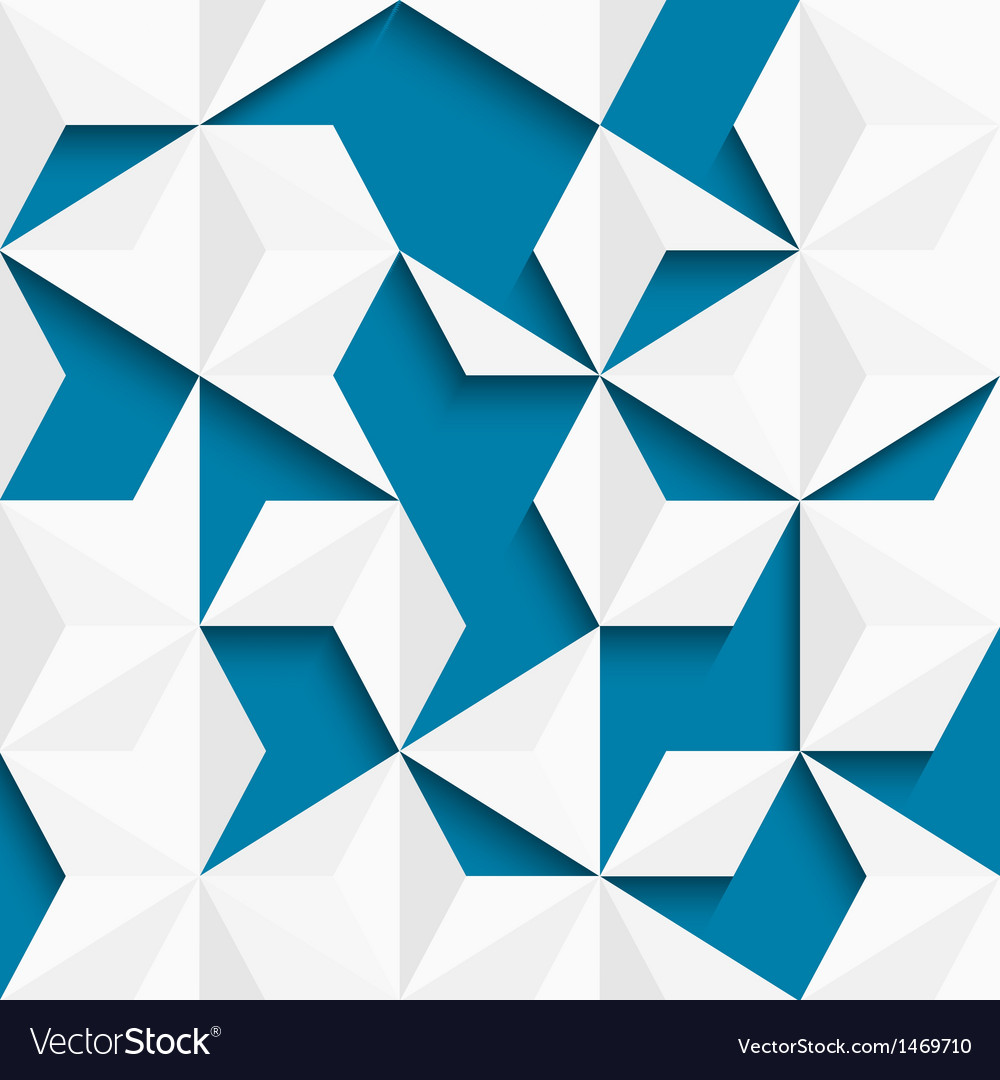Abstract background of paper triangles vector image