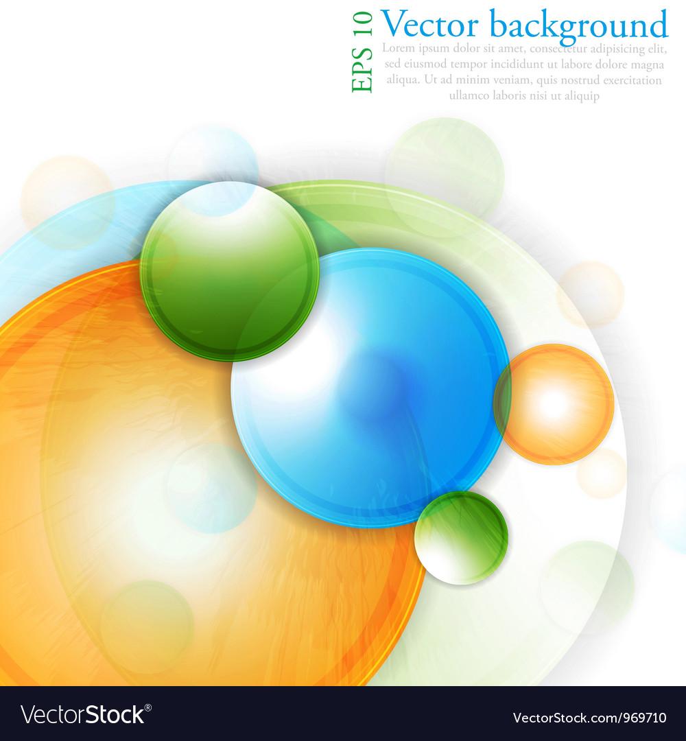 Bright circles vector image