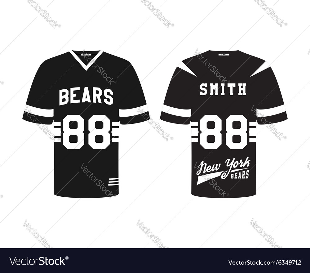 Shirt uniform design vector - American Football Uniform T Shirt Design With Vector Image