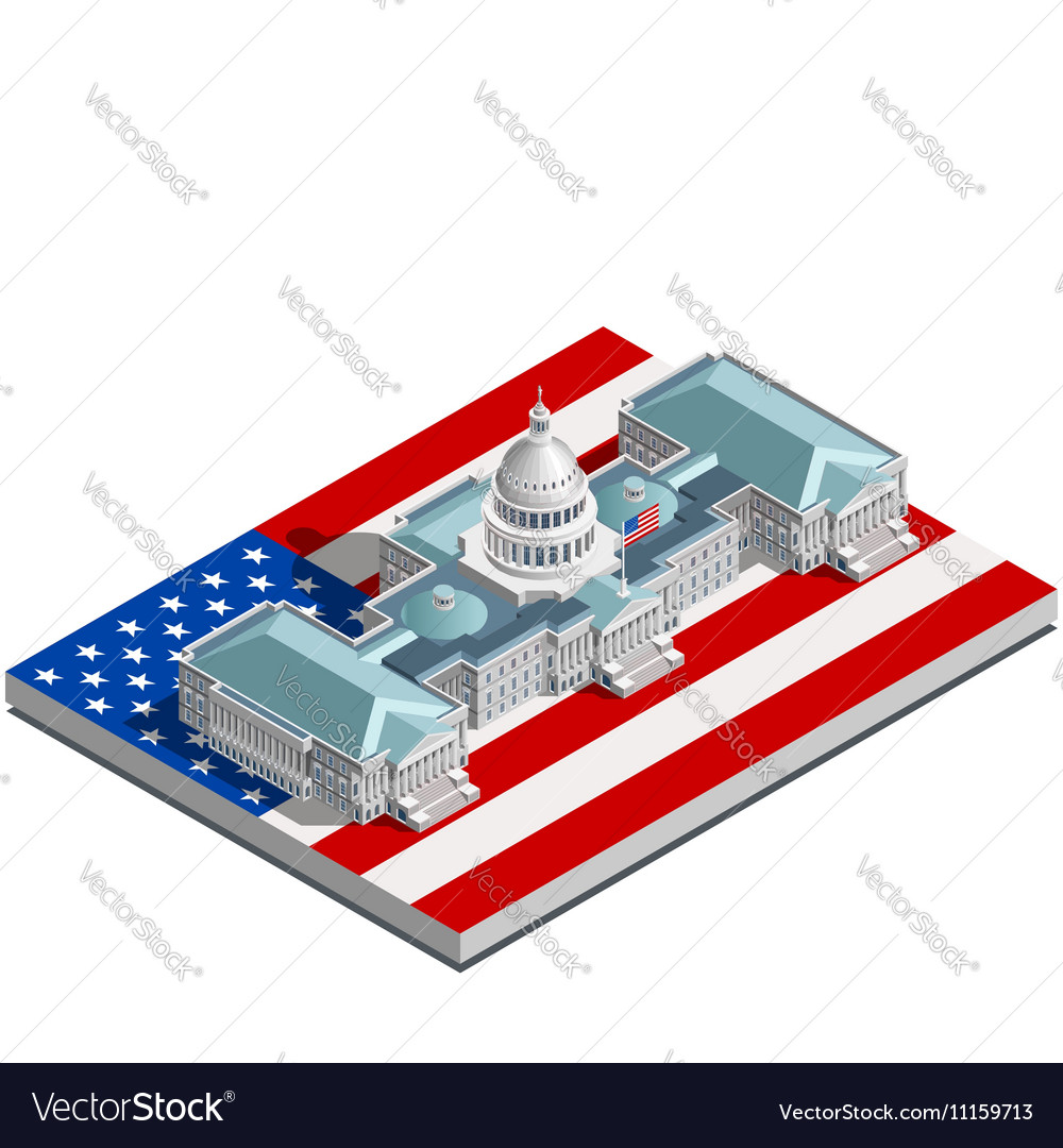 Election Infographic Politic Congress Isometric vector image