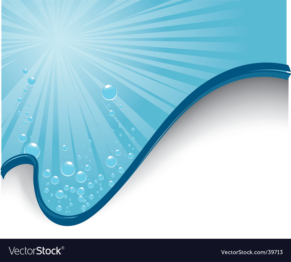 Water layout vector image