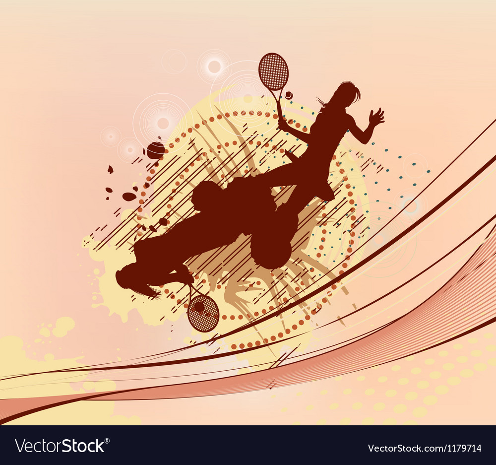 Red tennis background vector image