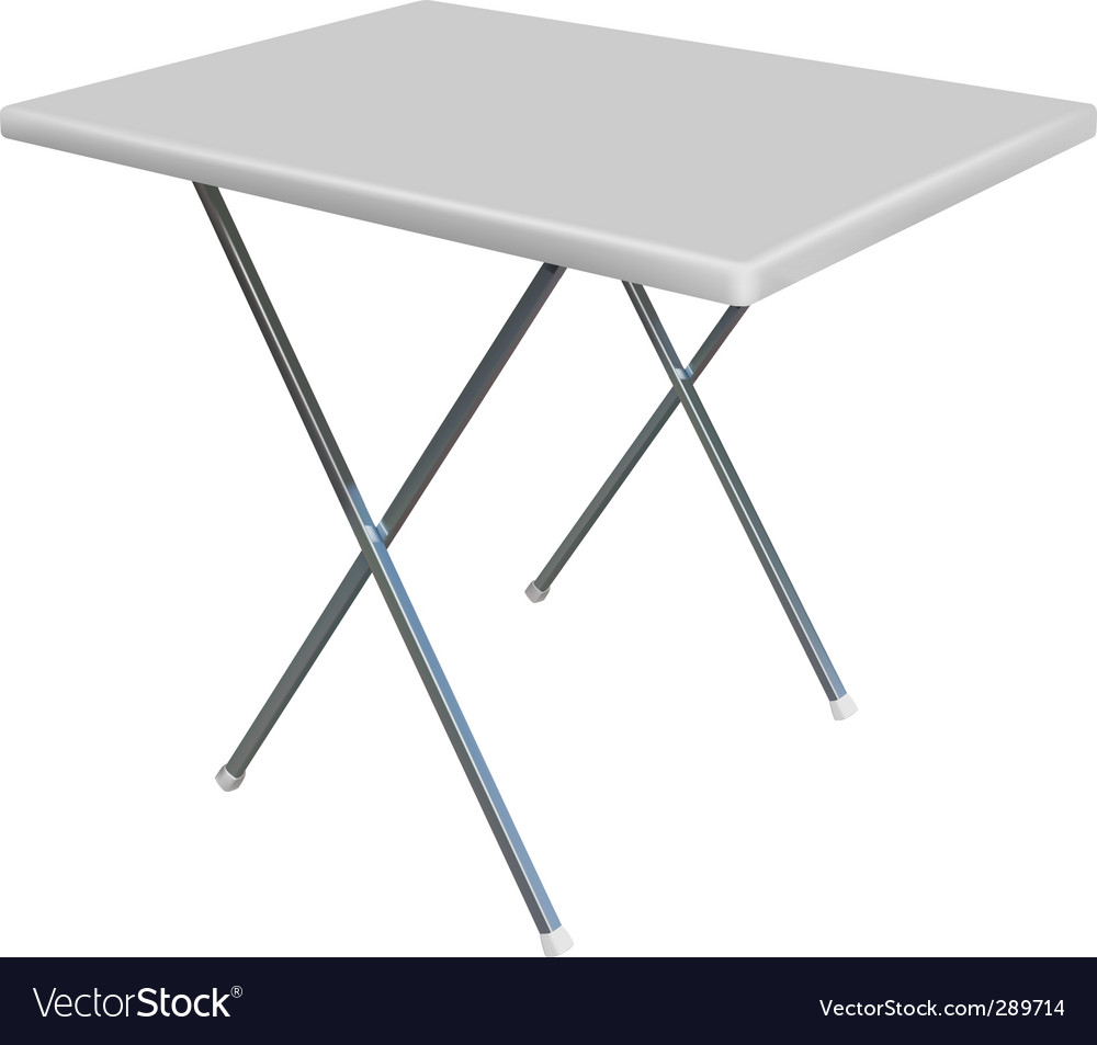 Convertible table vector image