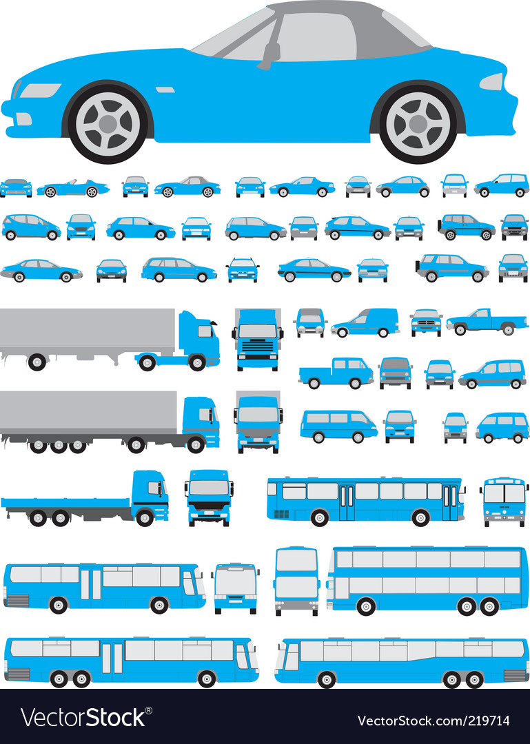 Car silhouettes vector image