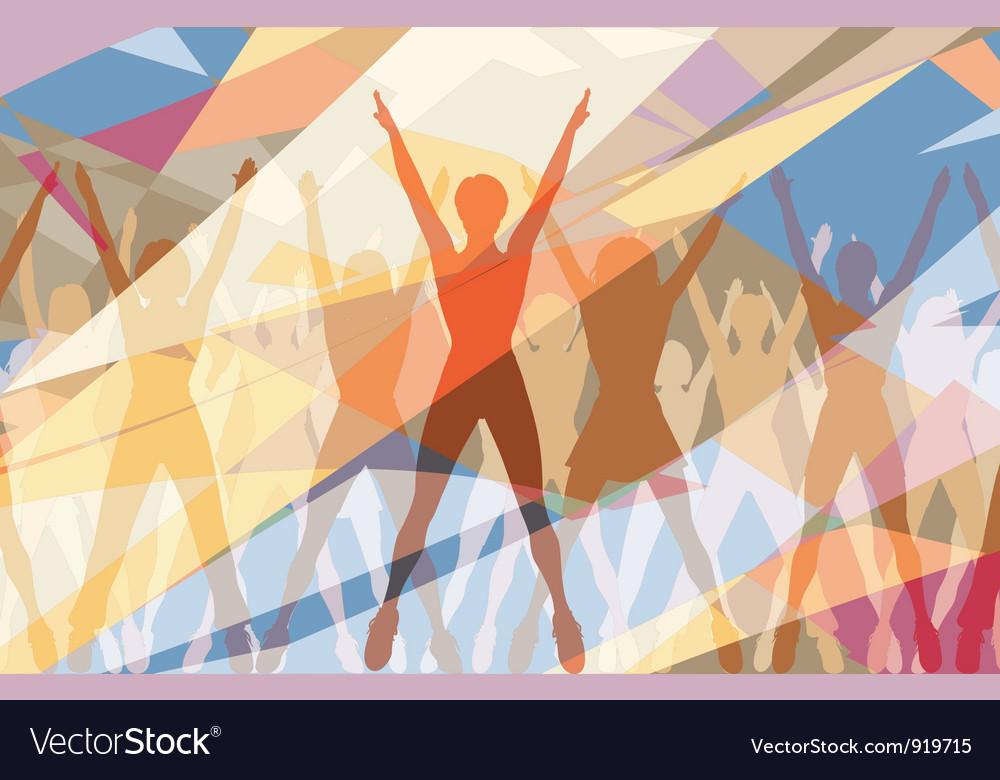 Aerobic color vector image