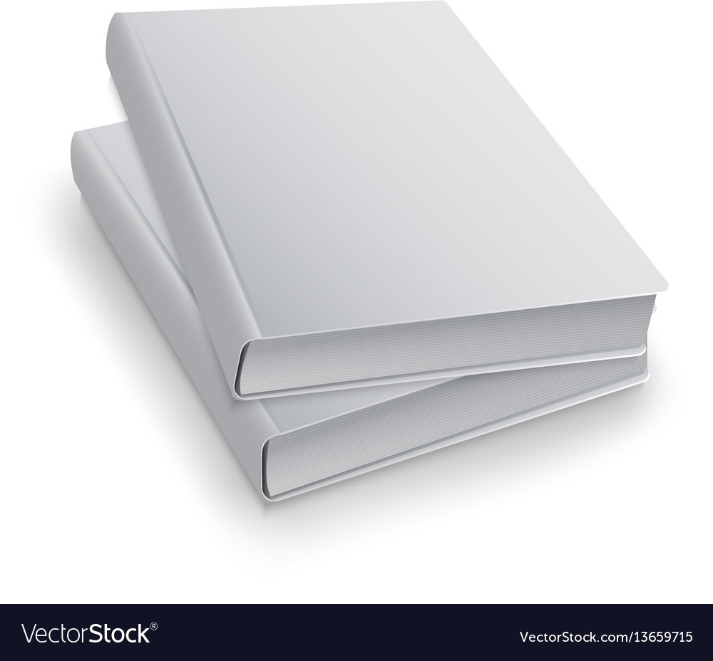 Realistic book with white cover mock up of books vector image