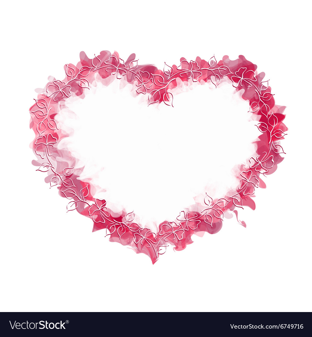 Abstract heart with hand drowing frame vector image