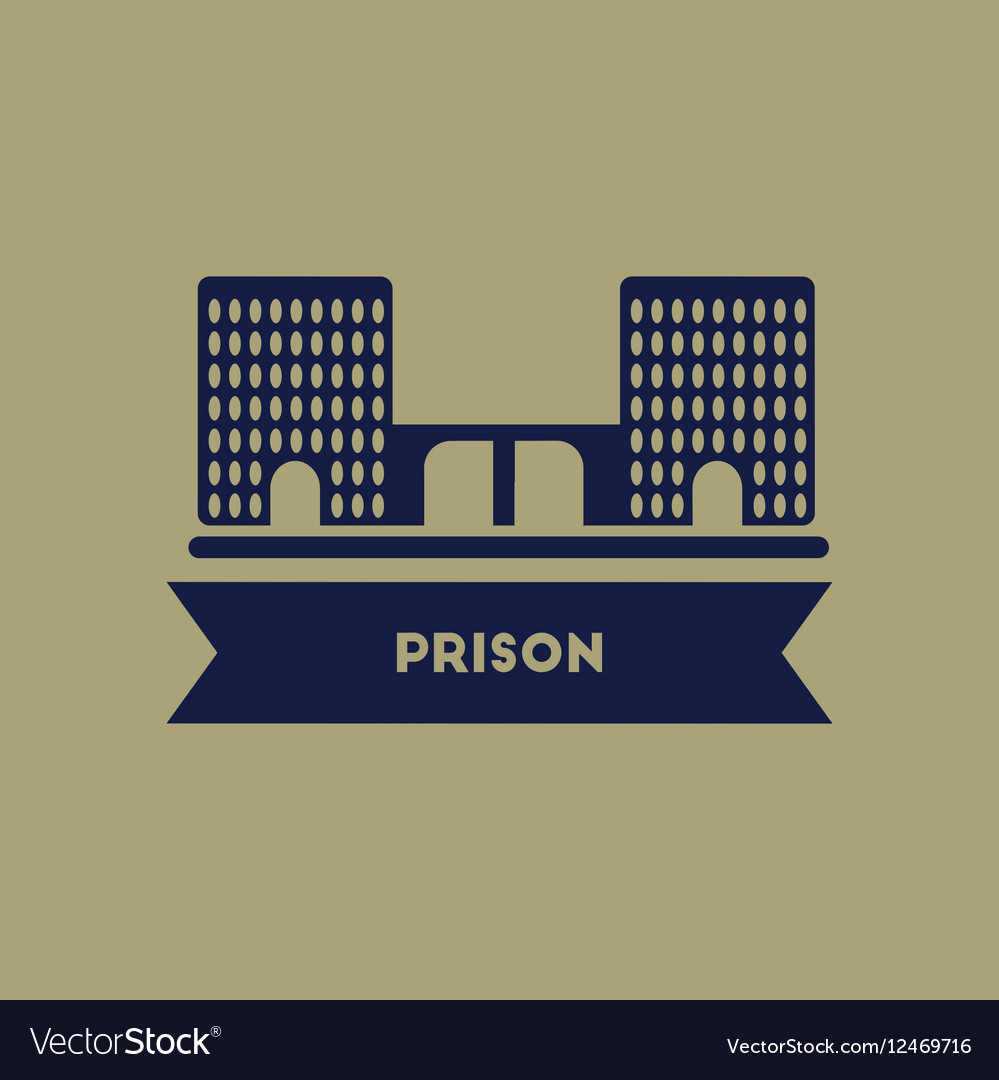 Prison building vector image