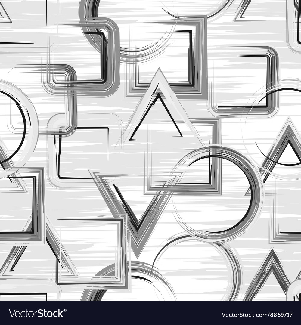 Grunge seamless pattern with hand drawn paint vector image