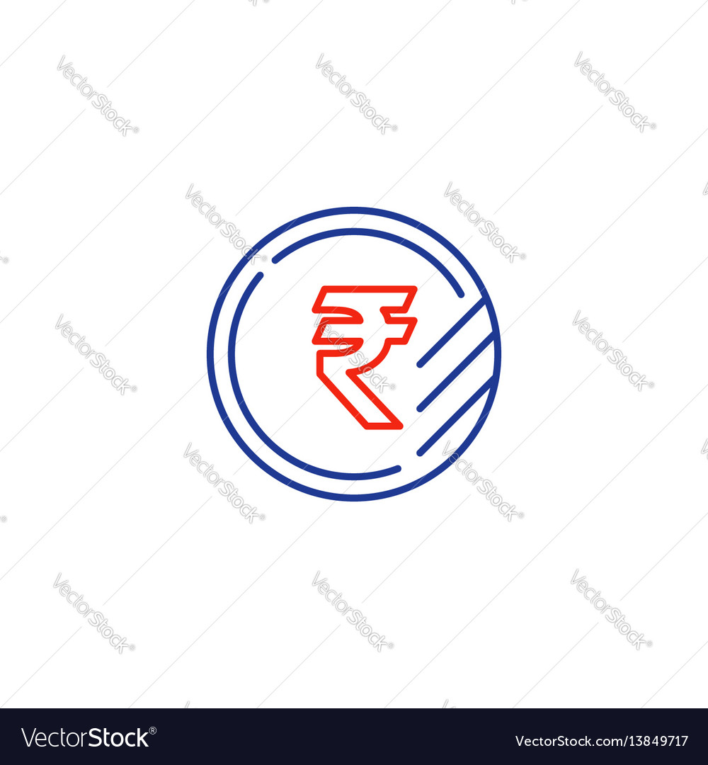 Ruble coin icon financial currency exchange vector image