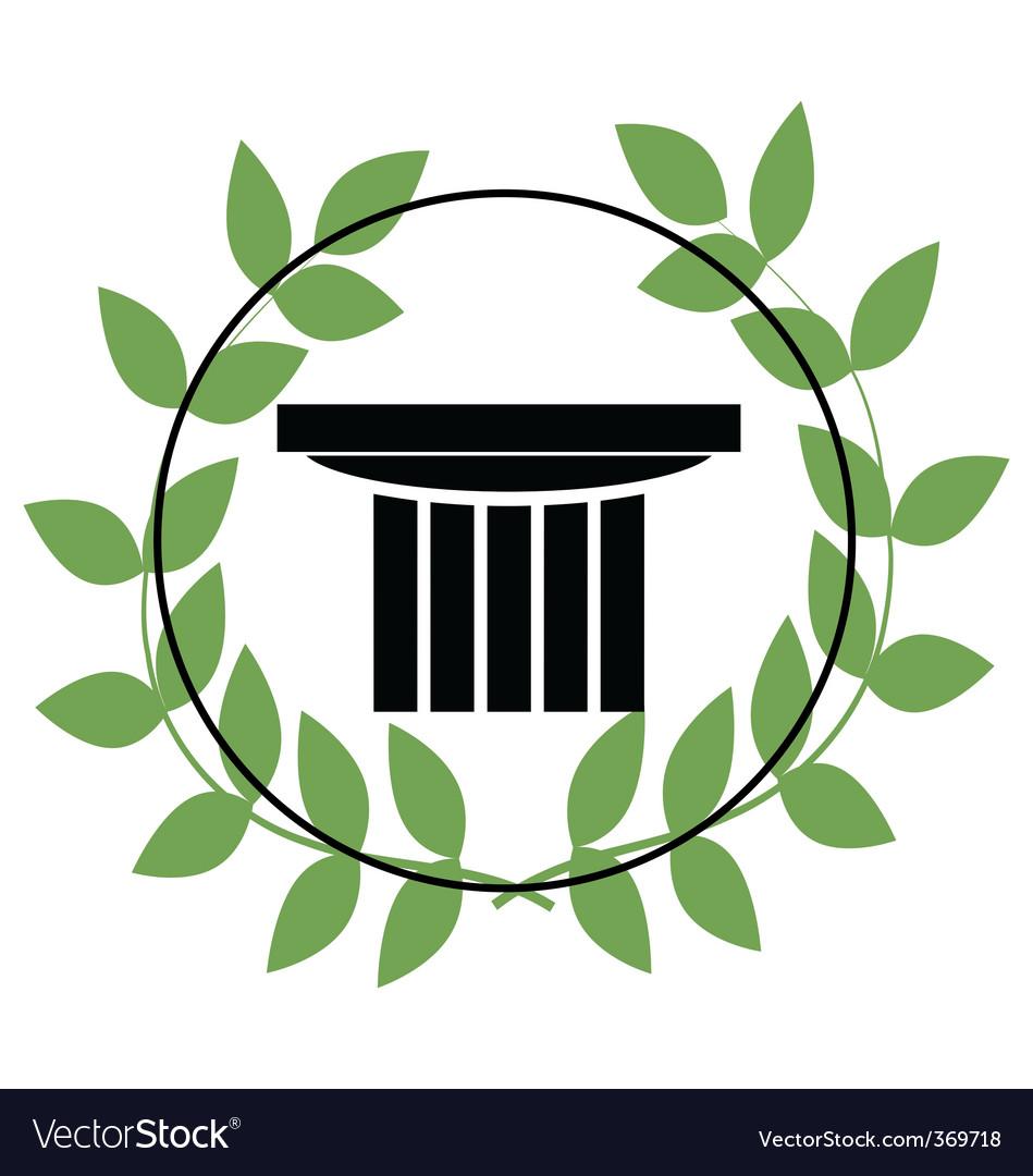 Greek symbols vector image