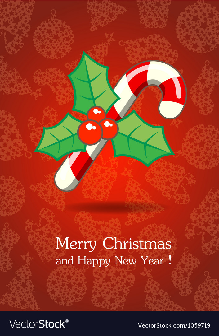 Christmas and New Year 2 vector image
