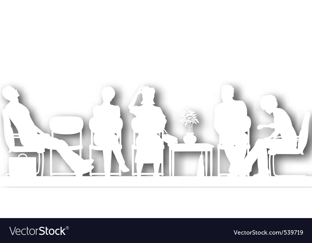 Waiting room cutout vector image