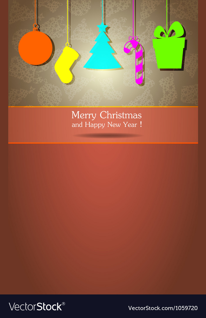 Christmas and New Year 3 vector image