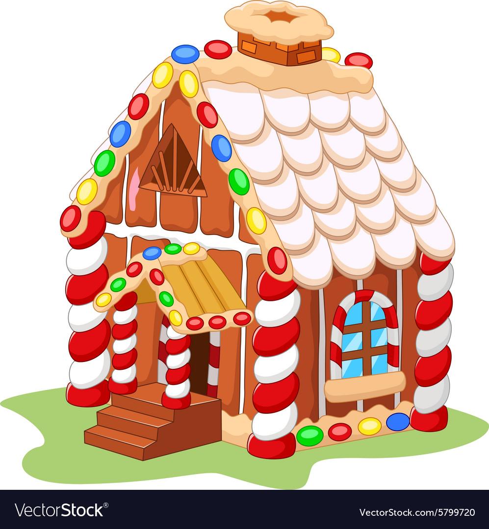 Cartoon gingerbread house vector image