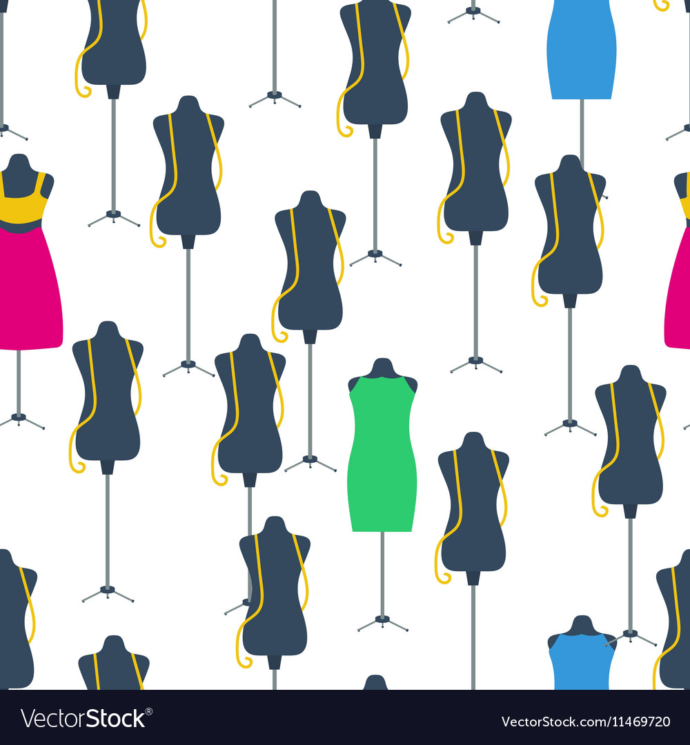 Seamless Pattern with black and color dummy vector image