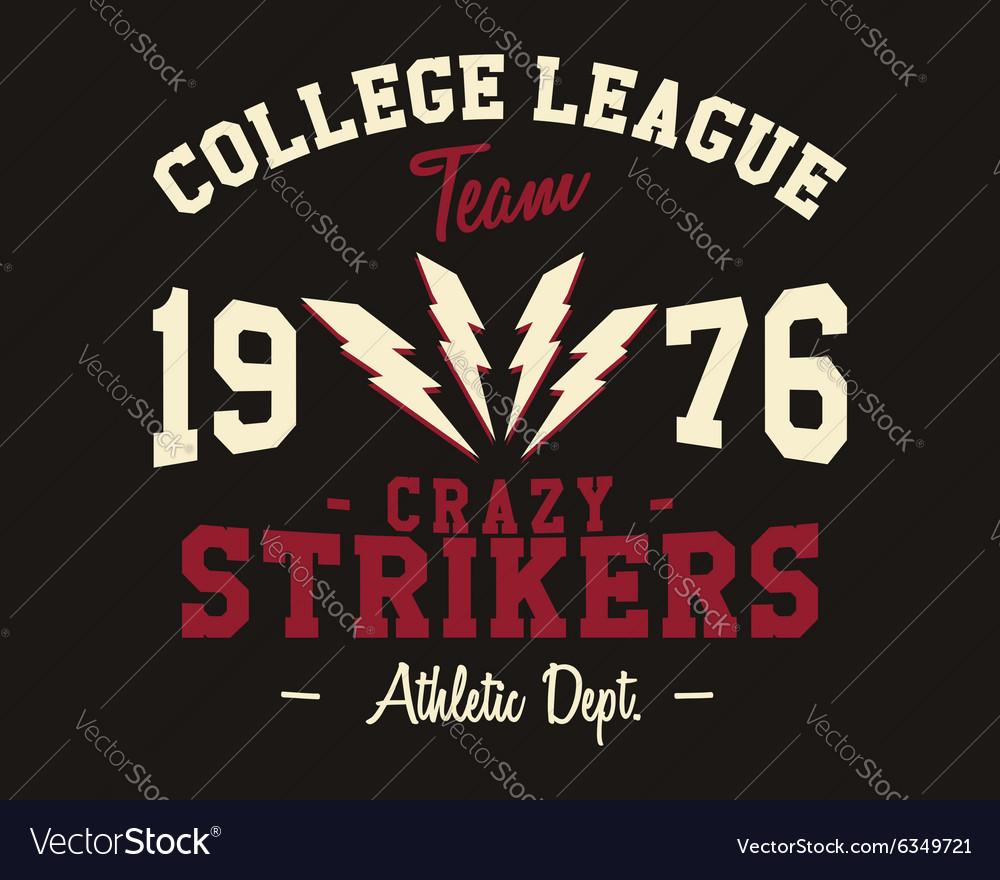 American football college league badge logo vector image