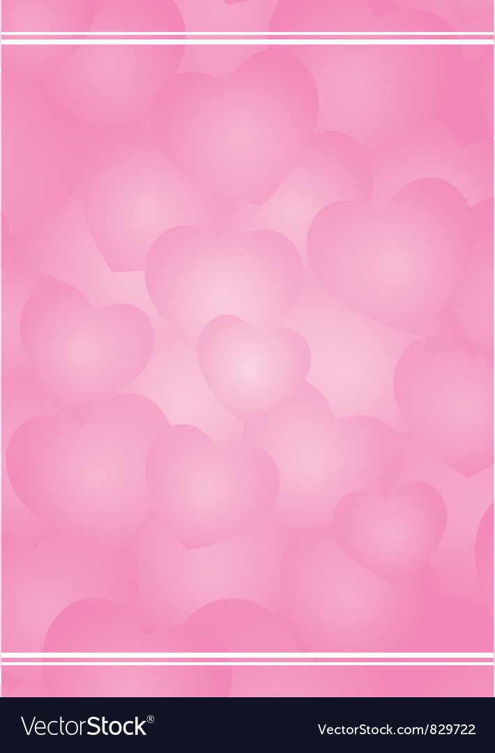 Valentine background with pink hearts vector image