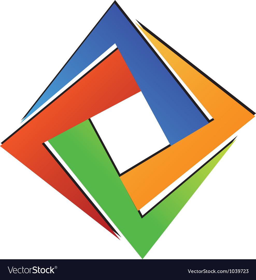 Diamond square geometric vector image