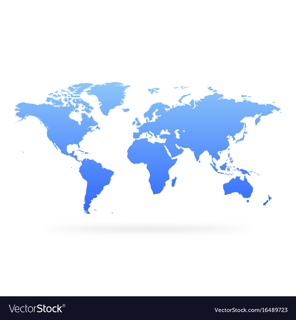 Blue gradient world map blank globe royalty free vector blue gradient world map blank globe vector image gumiabroncs Gallery