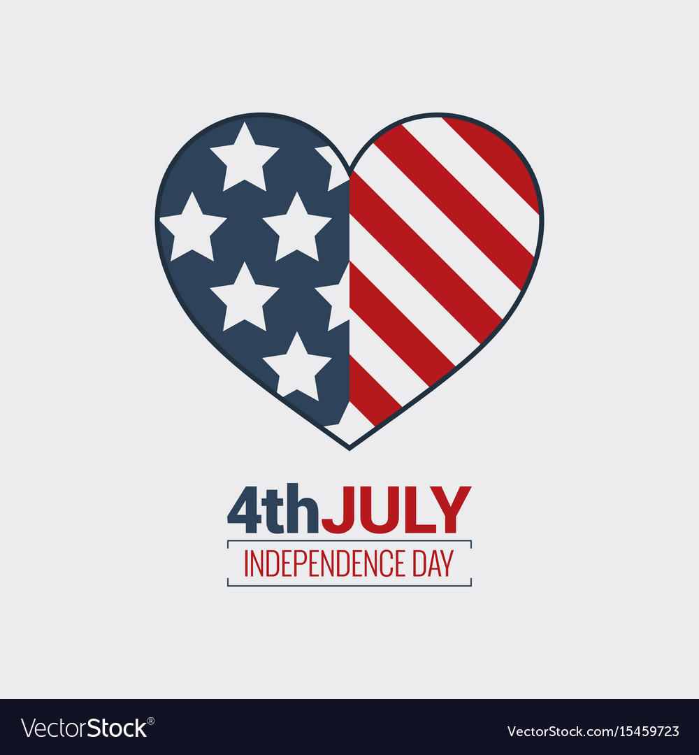 July fourth logo independence day design vector image