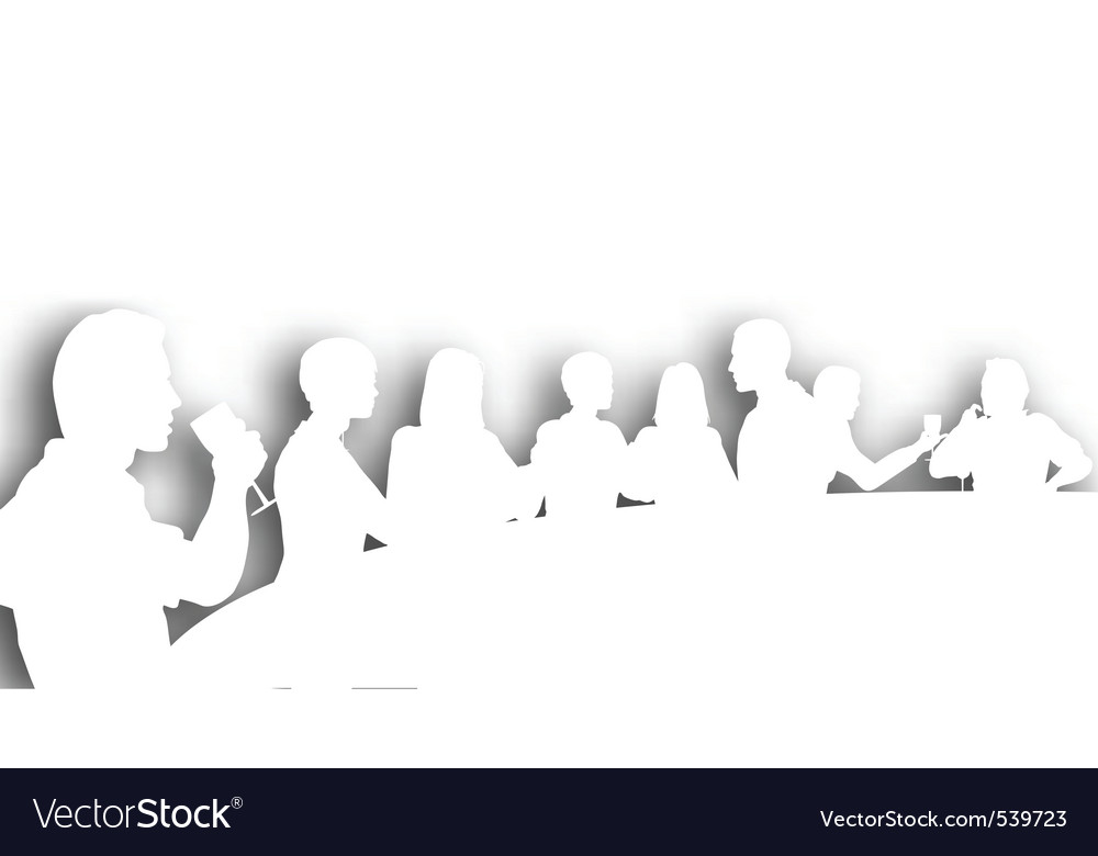 Wine bar cutout vector image