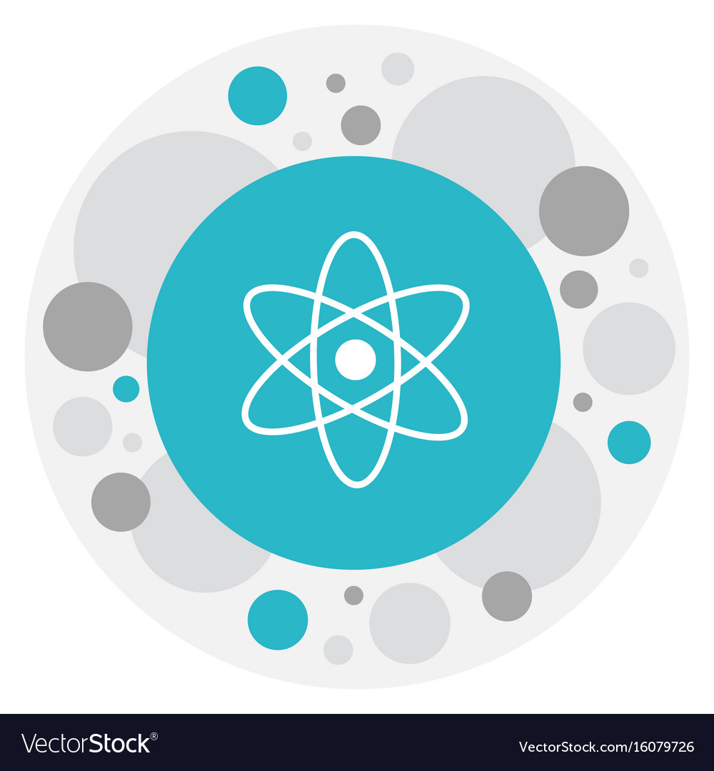 Of knowledge symbol on atom vector image