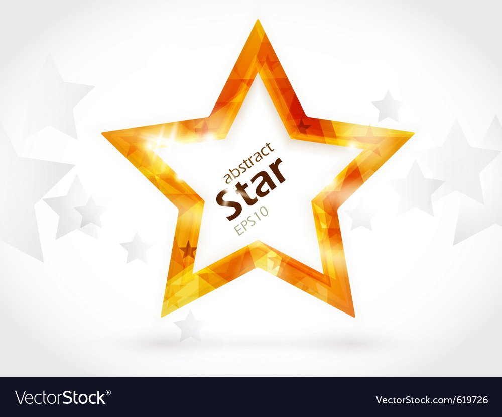 Shiny golden star vector image