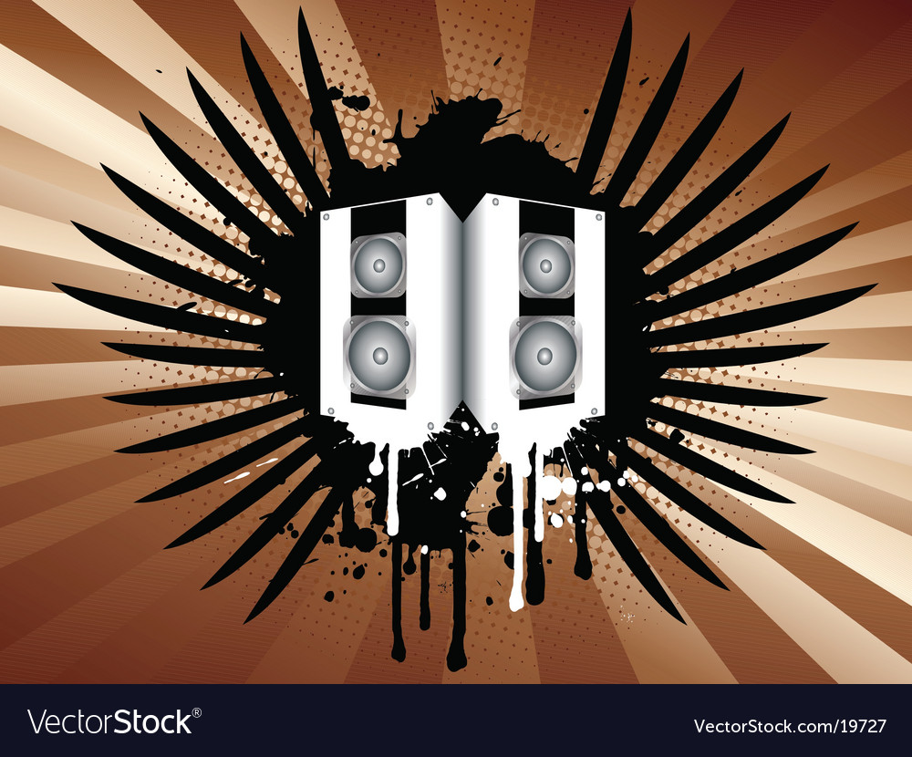 Grunge speakers vector image