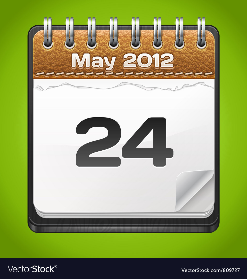 Leather Calendar vector image