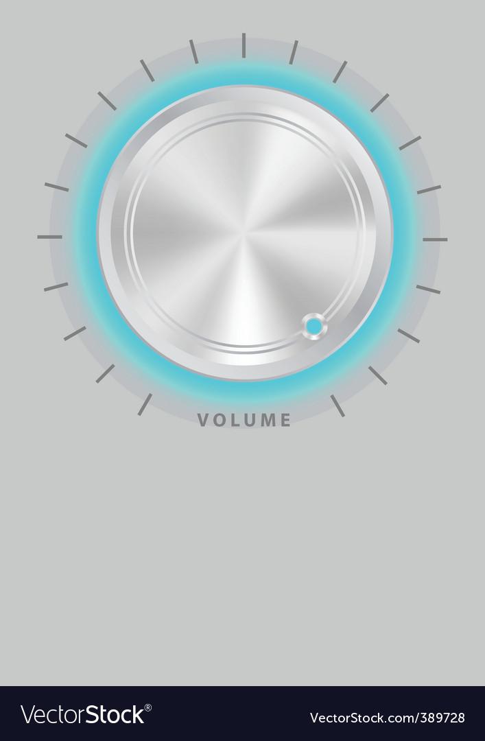 Metallic volume knob vector image